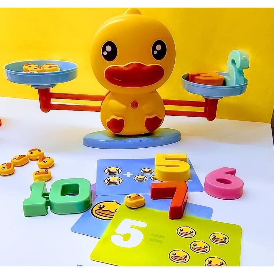 B-DUCK バランスダック すうじ さんすう 数字 算数 おもちゃ 知育 玩具 子供 男の子 女の子 3歳以上|y-silverback