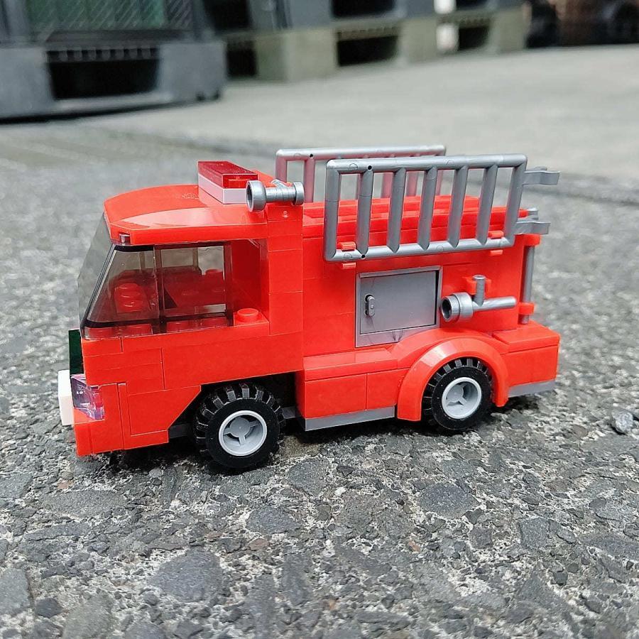 ブロックでつくる!消防車 117パーツ 知育玩具 ブロック おもちゃ 知育 玩具 子供 未就学 幼児 男の子 女の子 6歳以上|y-silverback|02