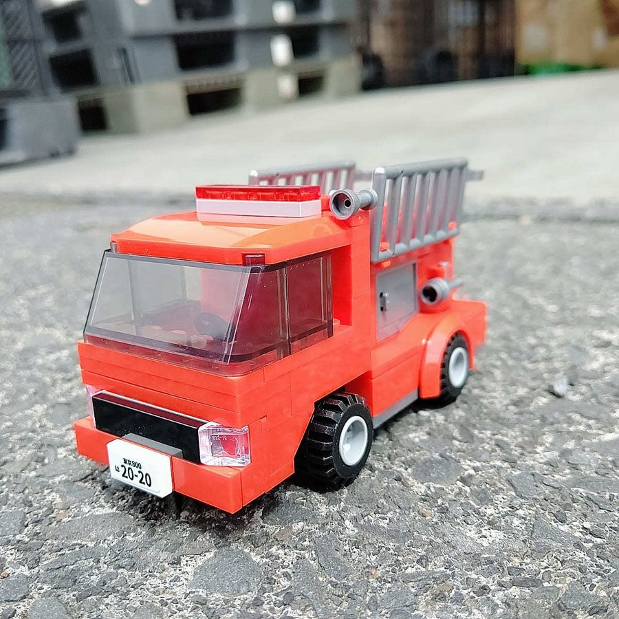 ブロックでつくる!消防車 117パーツ 知育玩具 ブロック おもちゃ 知育 玩具 子供 未就学 幼児 男の子 女の子 6歳以上|y-silverback|03