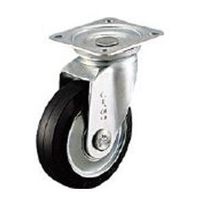 シシクアドクライス WJ-250 シシク スタンダードプレスキャスター ゴム車輪 自在 250径