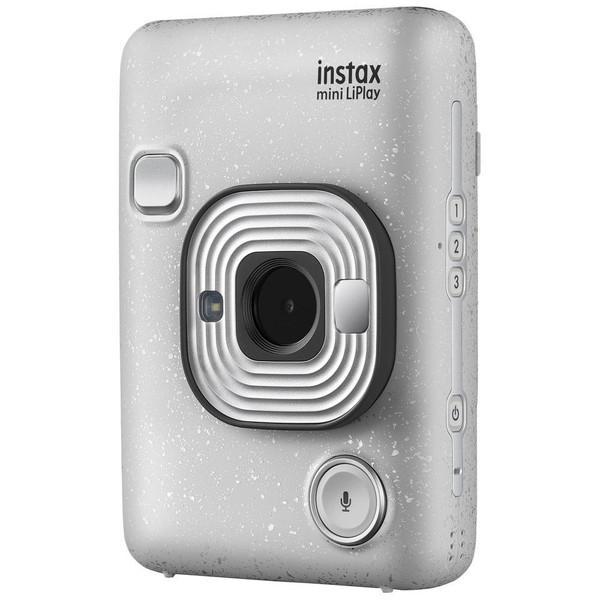 FUJIFILM フジフイルム ハイブリッドインスタントカメラ チェキ SALENEW大人気! ストーンホワイト LiPlay instax mini 与え