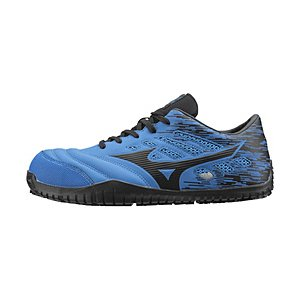メンズ 安全靴 MIZUNO WORKING オールマイティ TD11L(24.5cm/ブルー×ブラック/靴幅:3E)F1GA190027【JSAA·普通作業用(A種)認定品 耐滑 プロテクティブスニ…