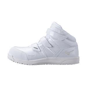 メンズ 安全靴 MIZUNO WORKING オールマイティSF21M(27.0cm/ホワイト/靴幅:3E)F1GA190201【JSAA·普通作業用(A種)認定品 耐滑 プロテクティブスニーカー】