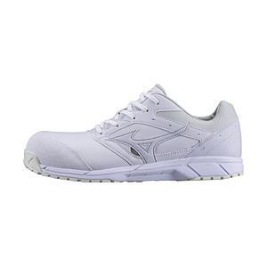男女兼用 安全靴 MIZUNO WORKING オールマイティCS 紐タイプ(26.0cm/ホワイト/靴幅:3E)C1GA171001【JSAA·普通作業用(A種)認定品 耐滑 プロテクティブスニー…