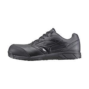 男女兼用 安全靴 MIZUNO WORKING オールマイティCS 紐タイプ(24.5cm/ブラック/靴幅:3E)C1GA171009【JSAA·普通作業用(A種)認定品 耐滑 プロテクティブスニー…