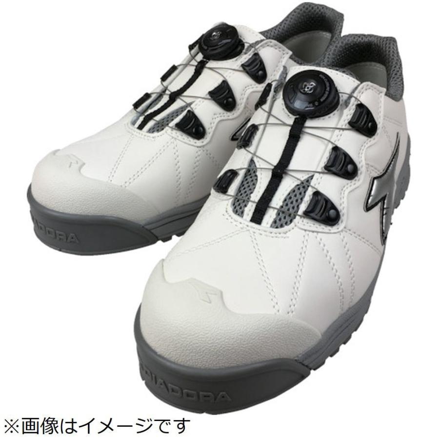 ドンケル ディアドラ DIADORA安全作業靴 フィンチ 白/銀/白 26.0cm