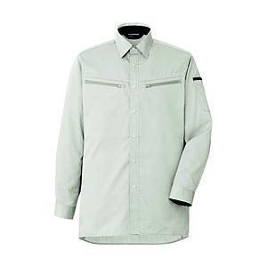 ミドリ安全 ミドリ安全 男女共用 ハーネス対応 長袖シャツ VES2591 上 シルバーグレー LL