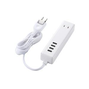 ELECOM エレコム USBタップ ギフト USBメス×4 売り込み AC×2 MOT-U11-2415WH ホワイト 3.4A ケーブル1.5m