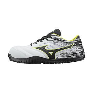 メンズ 安全靴 MIZUNO WORKING オールマイティ TD11L(22.5cm/ホワイト×ブラック×イエロー/靴幅:3E)F1GA190001【JSAA·普通作業用(A種)認定品 耐滑 プロテ…