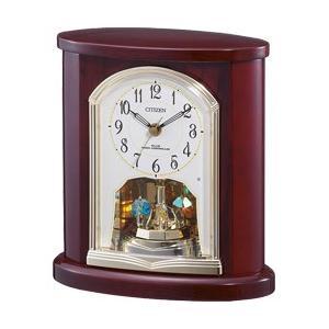 リズム時計 CITIZEN 電波置き時計 4RY681-N06