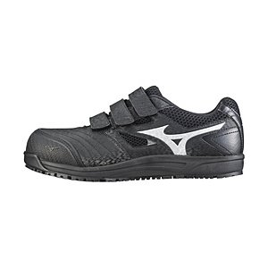 ミズノ メンズ 安全靴 MIZUNO WORKING ミズノ·オールマイティ FF(25.5cm/ブラック×シルバー/靴幅:4E)C1GA180109【JSAA·普通作業用(A種)耐滑】