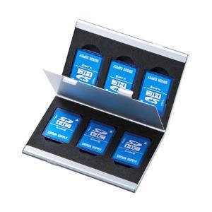 SANWA 公式サイト SUPPLY サンワサプライ アルミメモリーカードケース FC-MMC5SDN2 注目ブランド 両面収納タイプ SDカード用