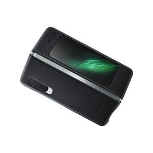 SAMSUNG(サムスン) 【サムスン純正】Galaxy Fold用 Leather Cover ブラック EF-VF900LBEGJP