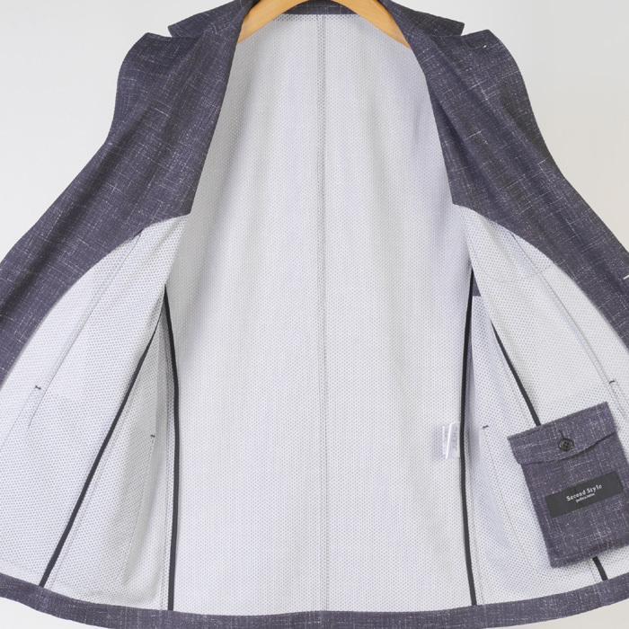 S M L LL ウルトラストレッチ 超軽量 清涼 カジュアルスーツ スーツ ノータック テレワーク クールビズ 12000 wRS9077|y-souko|11