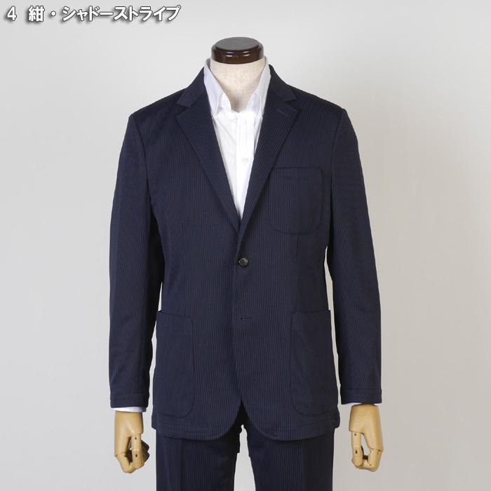 S M L LL ウルトラストレッチ 超軽量 清涼 カジュアルスーツ スーツ ノータック テレワーク クールビズ 12000 wRS9077|y-souko|16