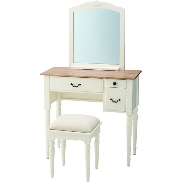 ドレッサースツールセット ドレッサー デスク テーブル 椅子付き コスメボックス メイクボックス 収納 鏡台 鏡台 化粧台 鏡付き エレガント カントリー
