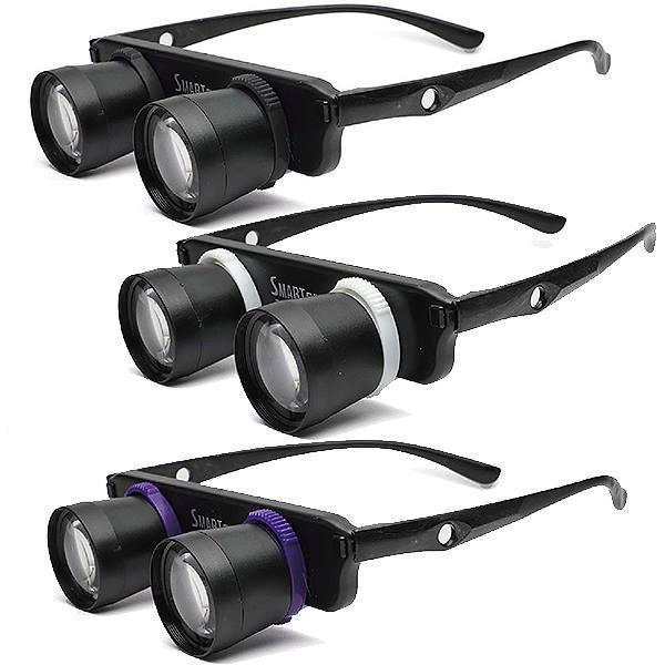 双眼鏡 両手が自由に使える メガネタイプの双眼鏡 ズームグラス 拡大率約3倍 ZG-01 ピント調節 レンズ切替 ソフト巾着ケース付 専用ストラップ付 ハンズフリー|y-takarabako