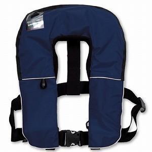 379-648B ライフジャケット 自動膨張式作業用救命衣 国土交通省型式承認品 小型船舶用救命胴衣兼用 ブルー ユニット