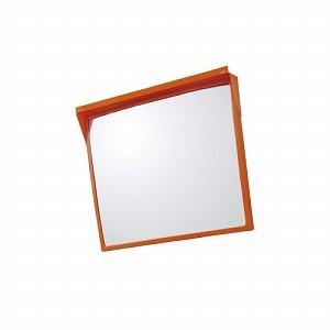 カーブミラー 500×600mm Bタイプ角型反射鏡 一面鏡 アクリル製 ユニット 384-66 ミラーのみ UNIT