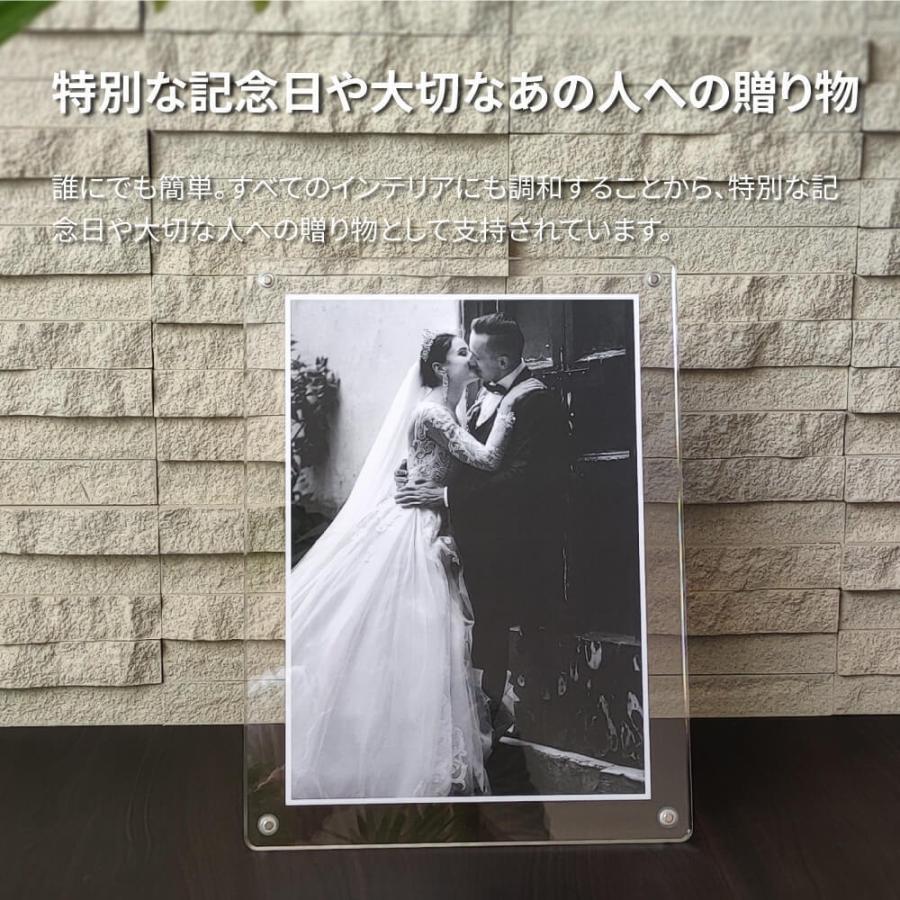 マグパチ フォトフレーム スタンダード A4判 サイズ 結婚祝い 写真立て 壁掛け 名入れ A4 2L A3 フォトスタンド y-trytec 04