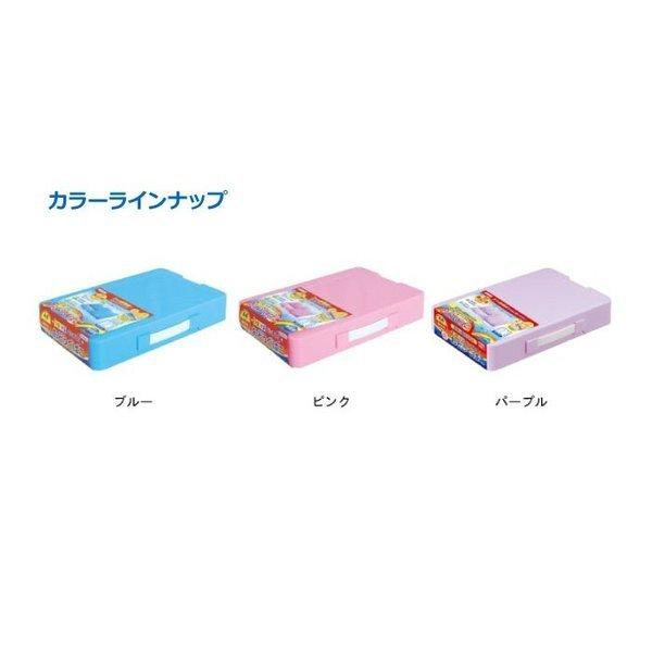 デビカ つながるパッチン!おどうぐばこ 手さげ付き ブルー ピンク パープル 名前シール付き お道具箱 おどうぐ箱 A4 プラスチック 液体のりプレゼント|y-wakka|05