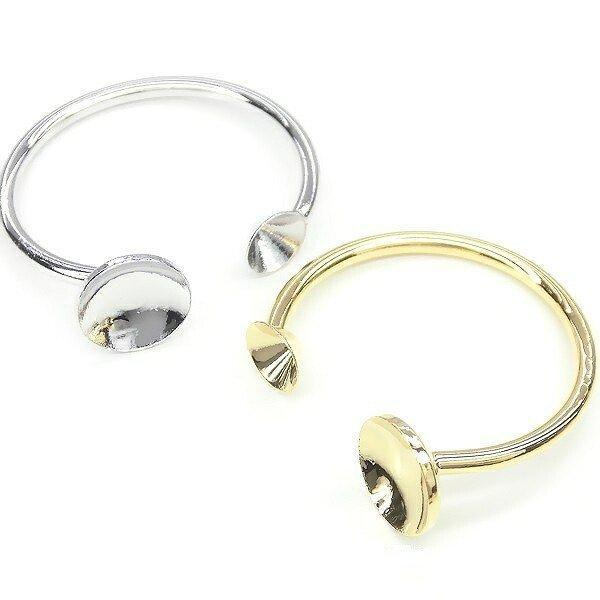 New デコレーションパーツ お試しセット スターターセット 指輪 ヘアアクセ フレームパーツ デコ土台 K16GP 本ロジウム ハンドメイド|ya-partsland|04