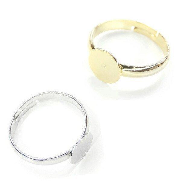 New デコレーションパーツ お試しセット スターターセット 指輪 ヘアアクセ フレームパーツ デコ土台 K16GP 本ロジウム ハンドメイド|ya-partsland|06