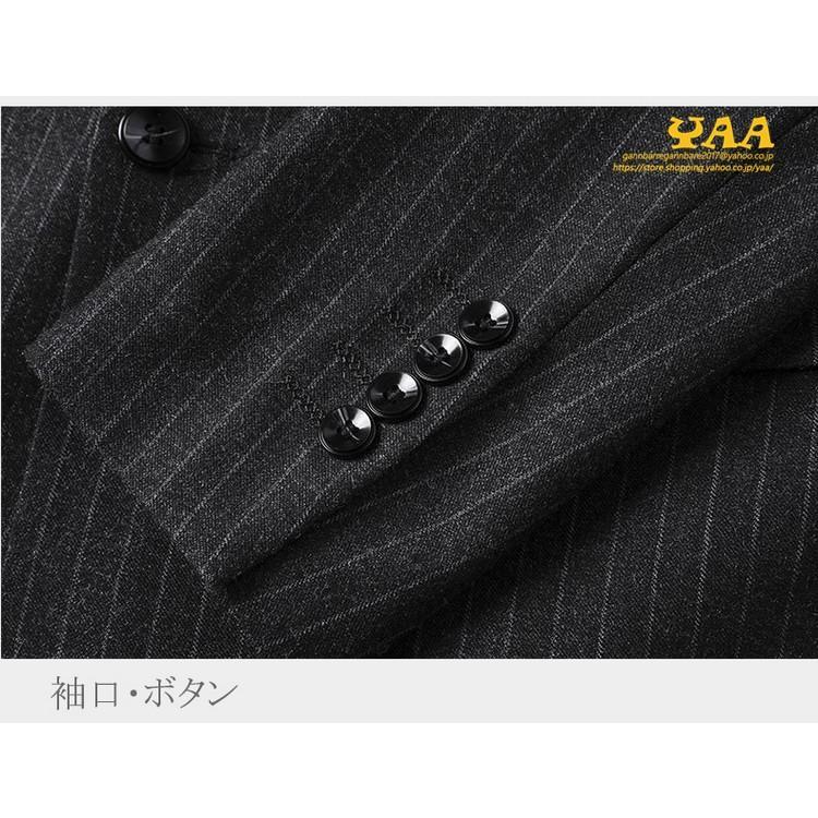 ダブルスーツ セットアップ 2ピーススーツ 6つボタン ビジネススーツ ストライプ柄 スーツ 秋冬 結婚式 礼服 紳士 メンズ yaa 11