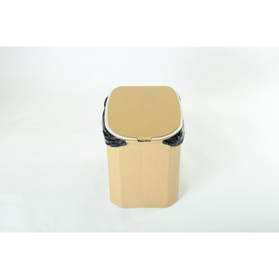 【1個】おしりにやさしい簡易トイレ 非常用ダンボール製組立式トイレ(5回分) yabai0132 08
