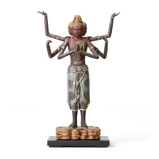 送料無料 TanaCOCORO[掌] 阿修羅 20センチサイズに凝縮された本物志向のクオリティ 飾れる仏像〈イSム〉(いすむ)(MORITA) tc3523