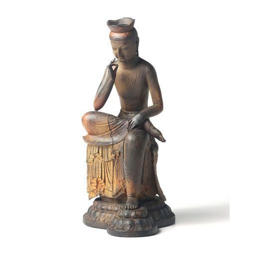 送料無料 TanaCOCORO[掌] 弥勒菩薩 20センチサイズに凝縮された本物志向のクオリティ 飾れる仏像〈イSム〉(いすむ)(MORITA) tc3511