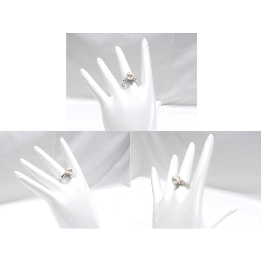 田崎真珠 指輪 Pt900 プラチナ900 リング TASAKI タサキ パール 真珠 8.5mm ダイヤ0.16ct 【中古】【程度A】【美品】 yagi-hiratsuka 05