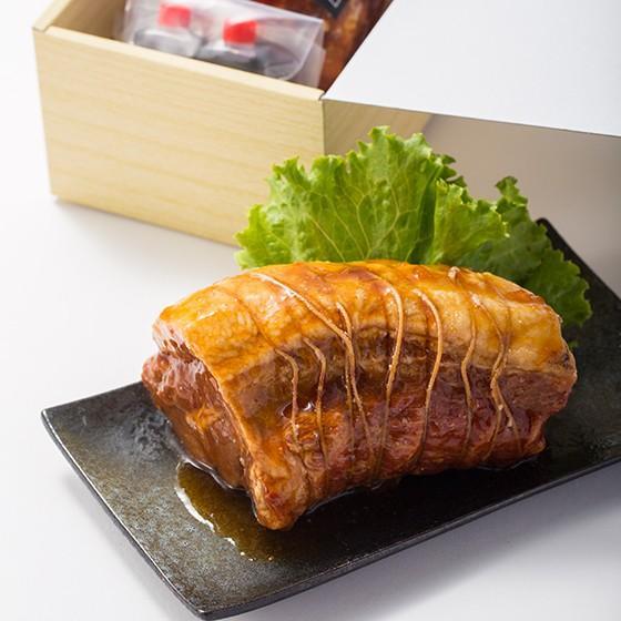 焼豚 チャーシュー お中元 贈答 ギフト 約450g×1 タレ付き 冷蔵|yakibuta-nakade|02
