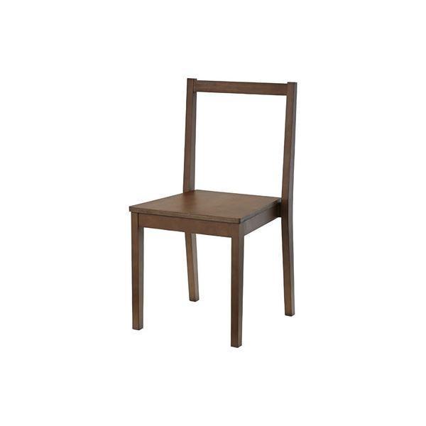 シンプル スタッキングチェア/椅子 4脚セット 〔ブラウン〕 幅41cm 木製 ウレタン塗装 〔リビング ダイニング 店舗〕お買得品