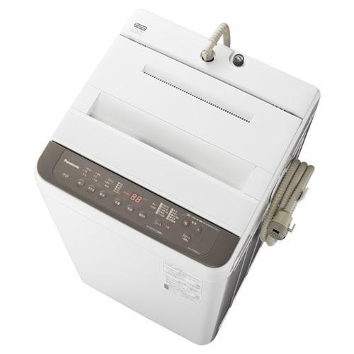 《週末限定タイムセール》 洗濯機 爆買いセール パナソニック 7KG NA-F70PB14-T 洗濯7kg ニュアンスブラウン 全自動洗濯機