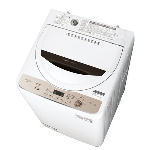 シャープ ES-GE6E-T 全自動洗濯機 在庫処分 日本正規品 ブラウン系 乾燥6.0kg 洗濯