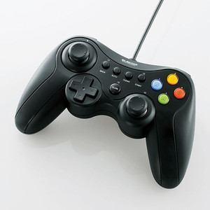 ゲームパッド エレコム PC 卓出 有線 ブラック Xinput対応 メーカー直送 JC-U3613MBK