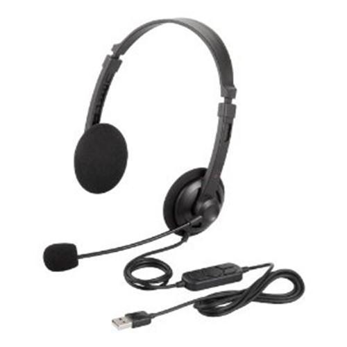 ヘッドセット バッファロー BSHSUH12BK ブラック SALE 両耳ヘッドバンド式ヘッドセット 結婚祝い USB接続
