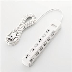 人気商品 トラスト エレコム T-K5A-2650WH 個別スイッチ付 5.0m 雷ガードタップ