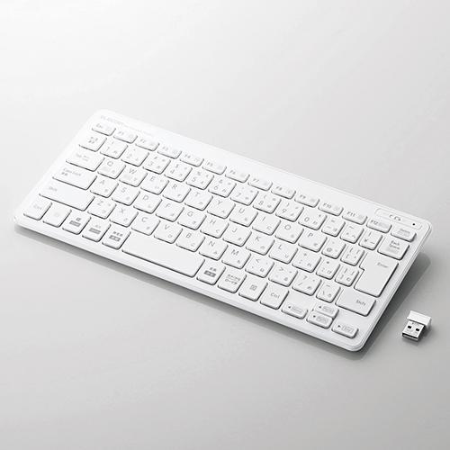 2020秋冬新作 エレコム TK-FDP098TWH 無線薄型ミニキーボード WEB限定