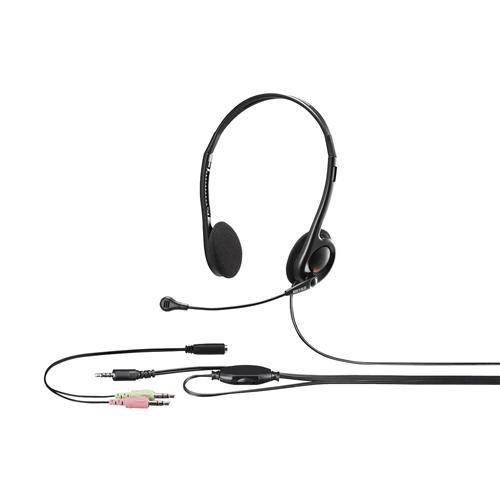 新品 ヘッドセット オーバーのアイテム取扱☆ バッファロー YDHSHCS100BK ブラック 両耳ヘッドバンド式ステレオヘッドセット
