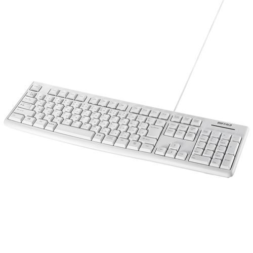 キーボード バッファロー 流行 保証 有線 USB ホワイト BSKBU100WH 有線スタンダードキーボード USB接続