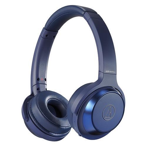 オーディオテクニカ ATH-WS330BT BL お買得 ワイヤレスヘッドホン マイク対応 大規模セール 重低音 ブルー