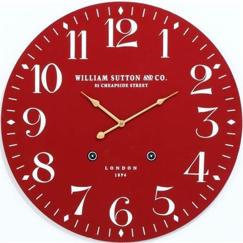 掛時計 LONDON1894 レッド 径60cm ショップ 結婚祝い
