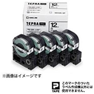 販売実績No.1 キングジム 品質検査済 SS12K5P テプラ 白ラベルテープ 黒文字 5個パック 12mm幅 白テープ