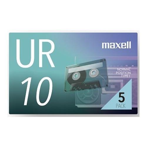 マクセル UR-10N5P カセットテープ 送料無料/新品 10分 5巻 超安い