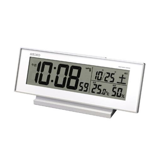 セイコークロック SQ762W 超激得SALE 購入 夜でも見える 電波修正機能 デジタル時計