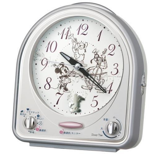 セイコークロック FD464S お求めやすく価格改定 キャラクター 目覚し時計 スイープ秒針 スヌーズ付 メロディアラーム ライト付 出群