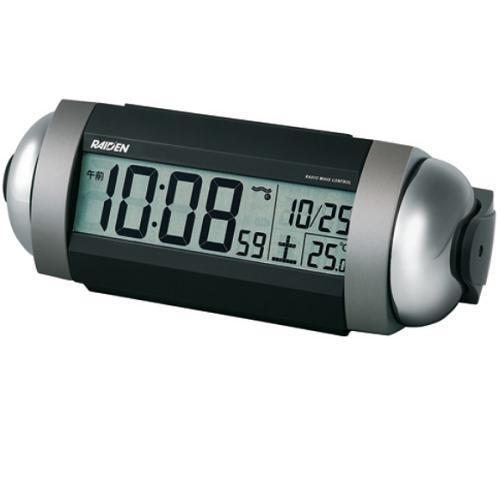 休み セイコークロック 国内正規品 NR530S 電波目覚まし時計 銀色メタリック塗装 RAIDEN