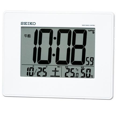 セイコー SQ770W 目ざまし時計 テレビで話題 電波クロック 掛置兼用 贈答品
